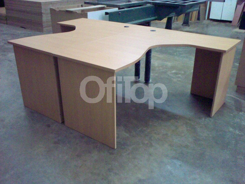 Islas de trabajo para oficina muebles islas de trabajo for Medidas de muebles para oficina