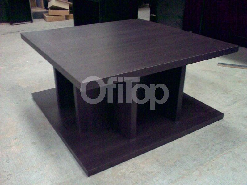 Mesa ratona de madera de dise o moderna mesa ratona de for Mesas de living