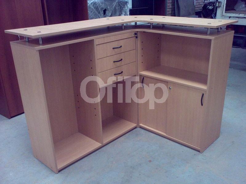 Mostradores para locales y comercios en madera el mejor for Muebles para negocio